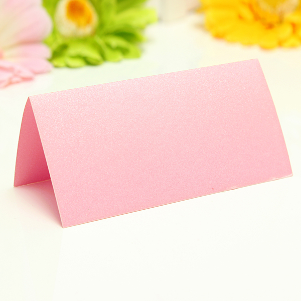 50X Simple Blank Wedding Party Table Place Cards Guest Name Cards Placecards DIY