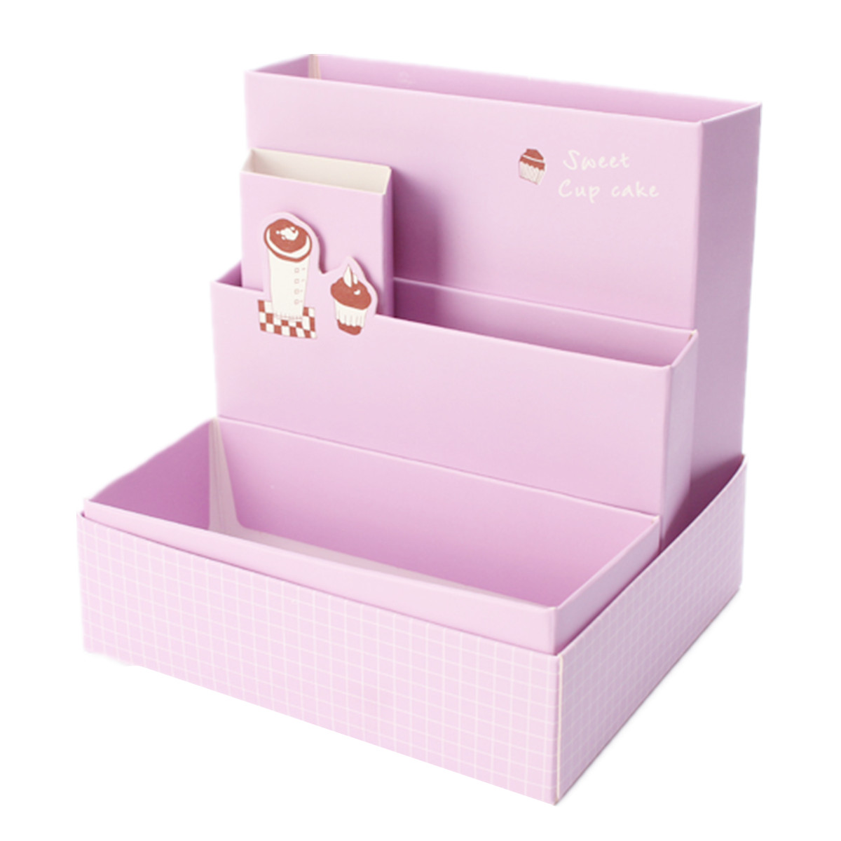 DIY Fold Board Paper Storage Box Organizer Makeup Cosmetic