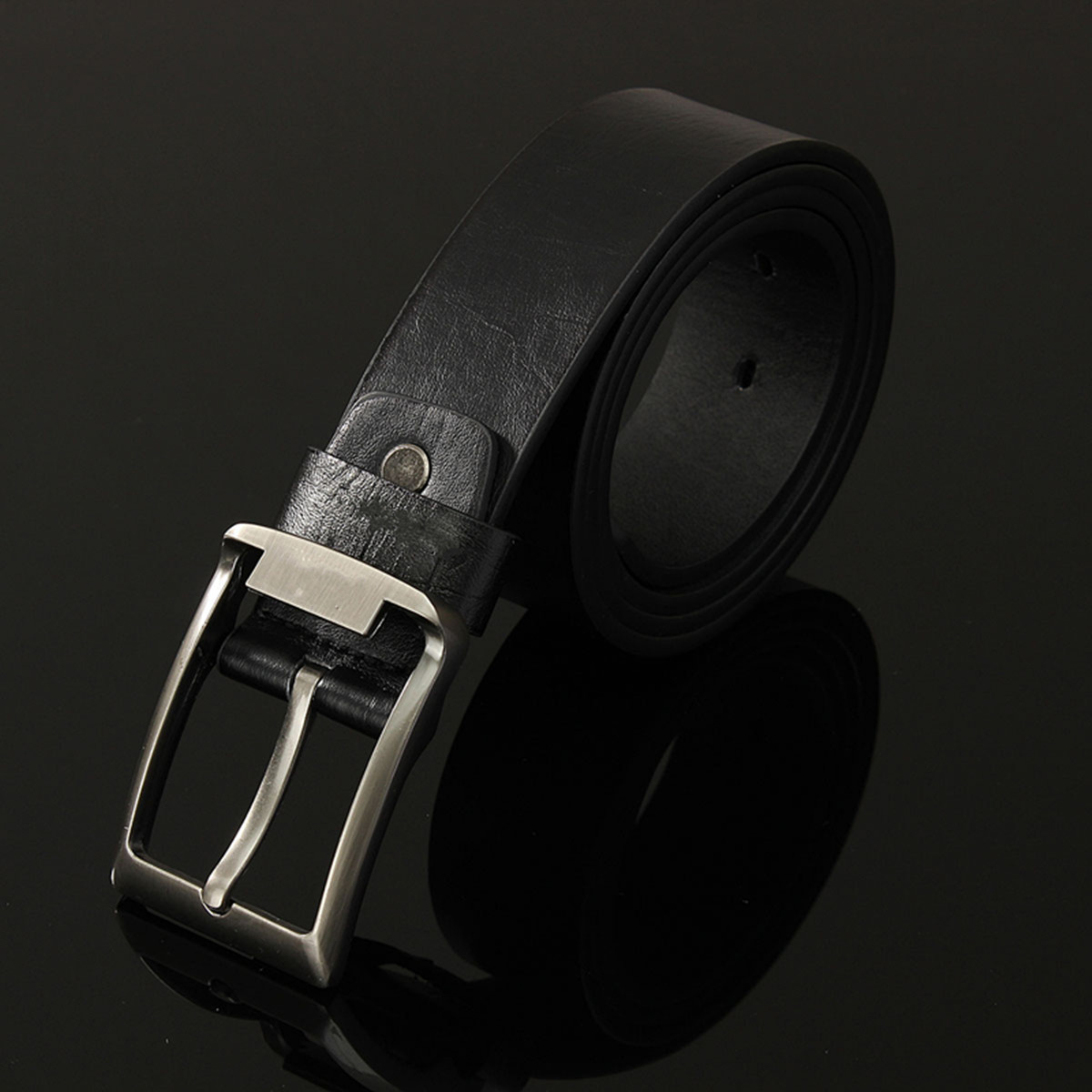 Fashion Men's Luxury Leather  Vintage Classic Pin WaistBand Strap Waist Belts