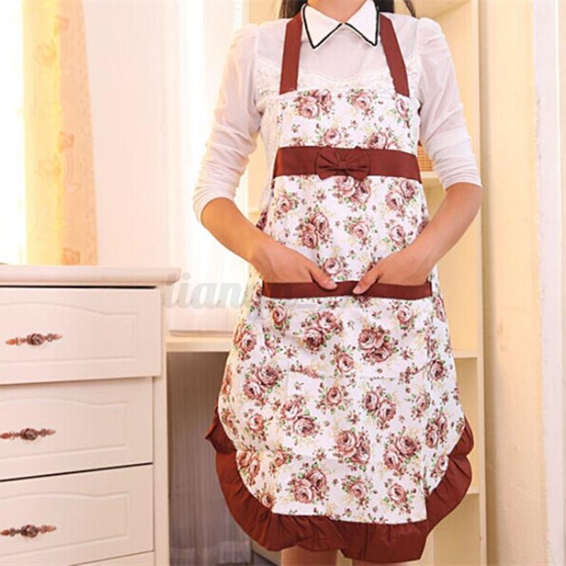 Tablier de cuisine robe femme fille blouse v tement fleur for Tablier cuisine fille