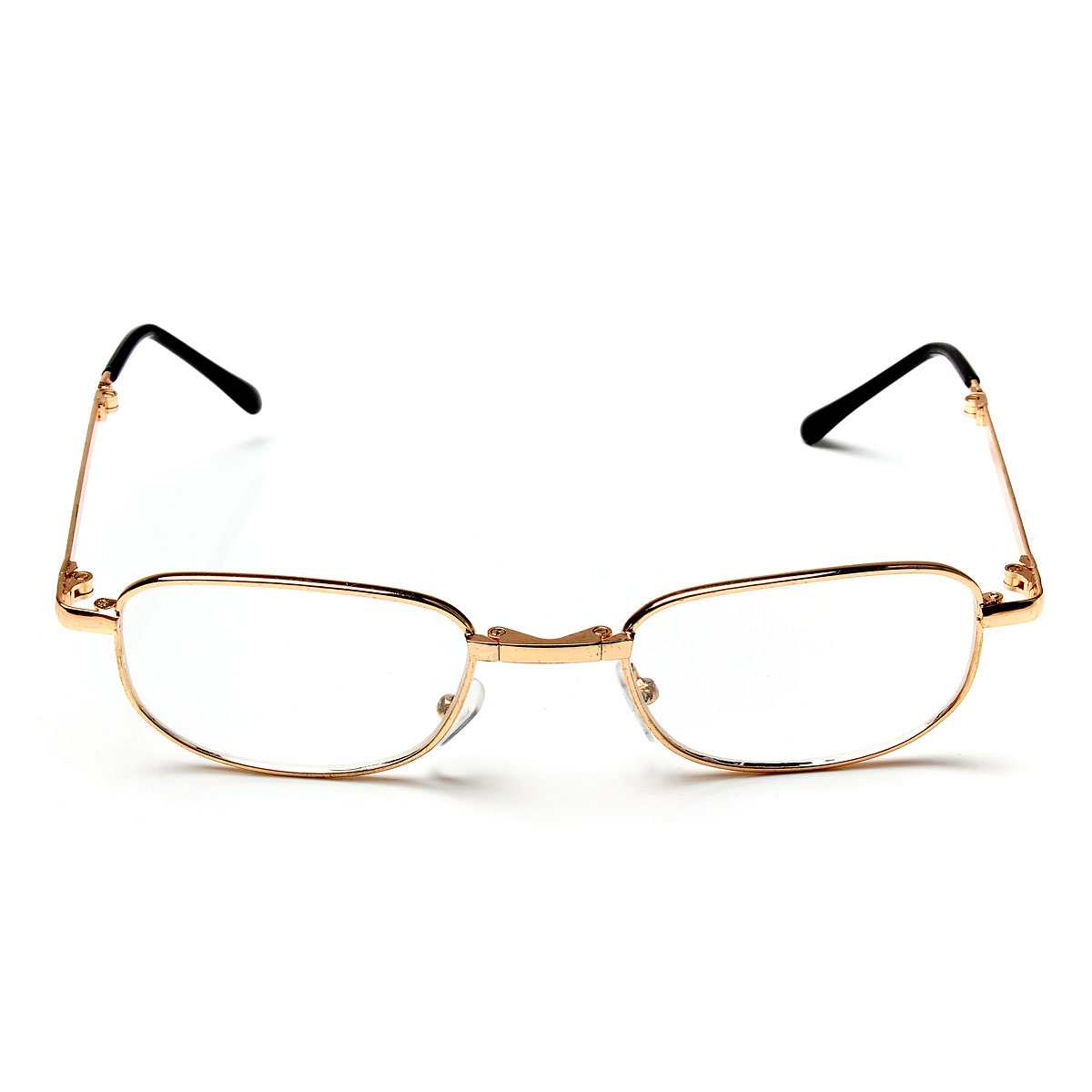 Folding Golden Frame Foldable Reading Glasses Eyeglasses ...