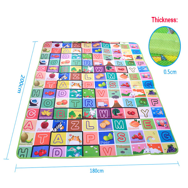 4 Sizes Baby Floor Play Mat Child Activity Soft Kid Eductaional Toy Crawl Gym