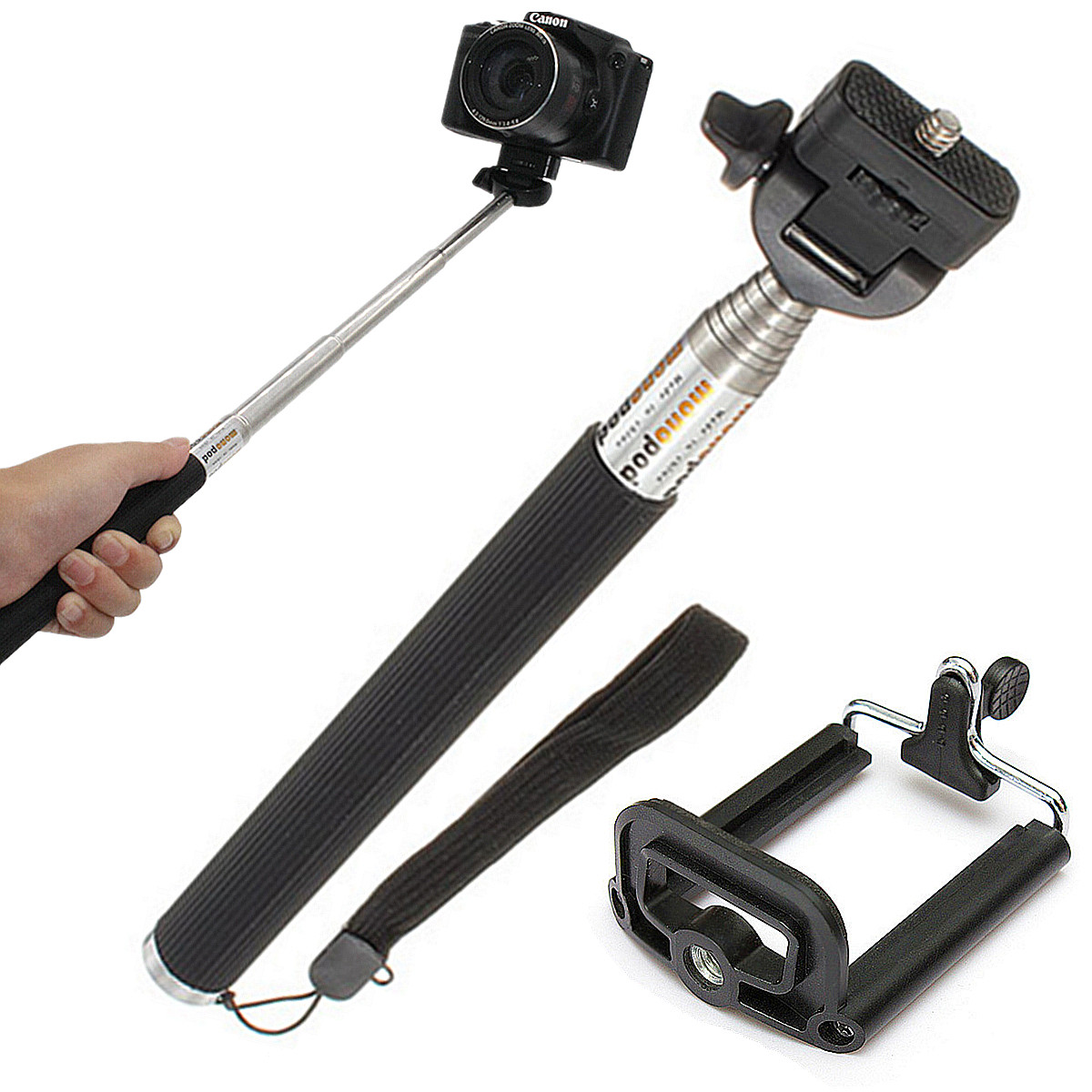 neu selfie stick handstativ teleskop monopod f r iphone 6 plus 6 5s 5c 5 4s 4 ebay. Black Bedroom Furniture Sets. Home Design Ideas