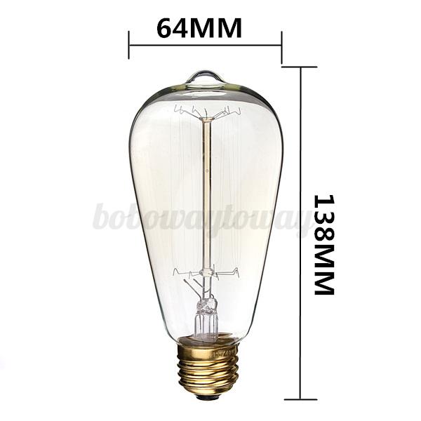 Lampadine Vintage Led: Lamp holder round edison bulb fixture vintage retro hanging.