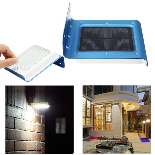 16 led lampe solaire murale etanche mouvement d tecteur - Lampe solaire detecteur mouvement exterieur ...