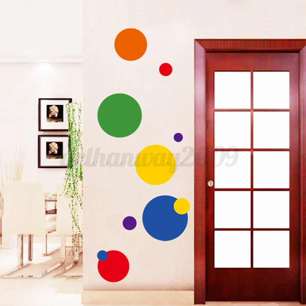 Vinyl cercle autocollant sticker amovible mural art maison for Decoration autocollant mural