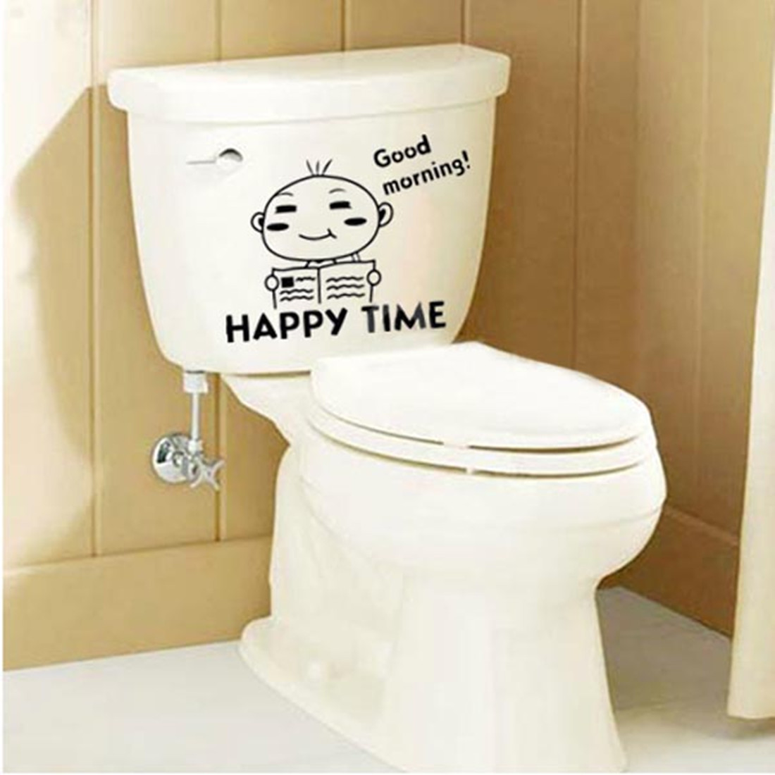 Sticker toilette wc abattant mural autocollant mur chambre for Fenetre toilette