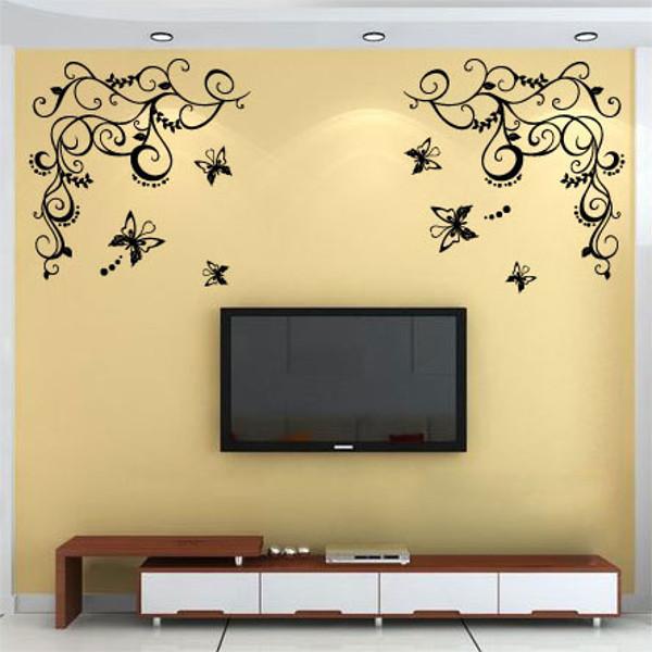 40 style sticker autocollant mural pr maison d coration salon chambre s jour diy - Diy deco salon ...