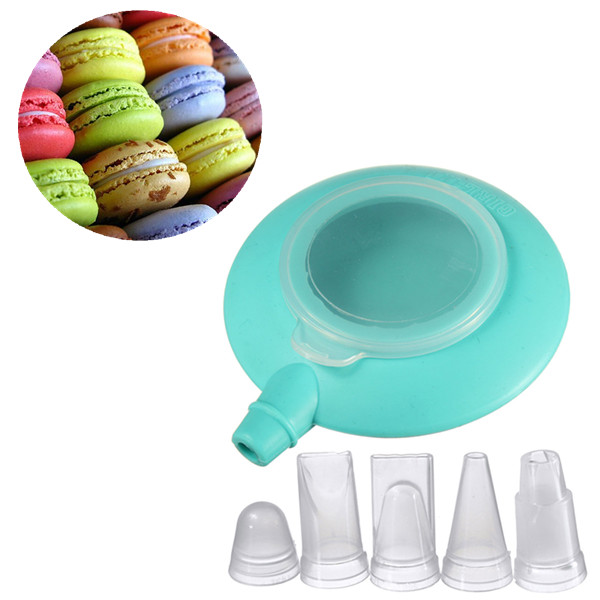 Mini Silicone Cake Muffin Macaron Decorating Pen Cream 4 Nozzle Kit Set Baking