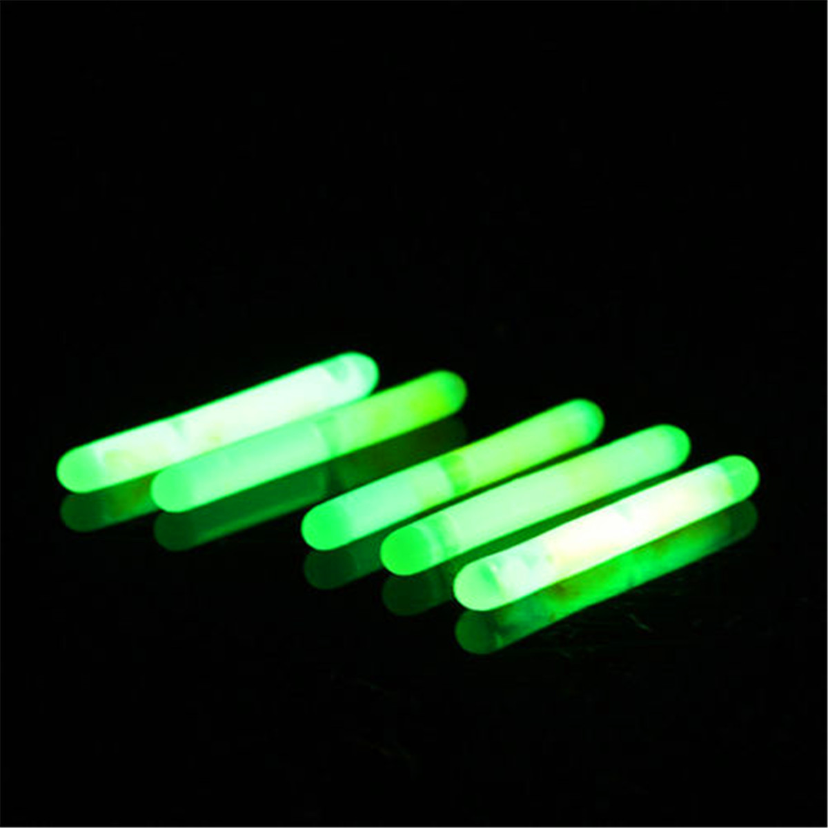 50pcs fishing fluorescent lightstick light night float for Glow in the dark fishing pole