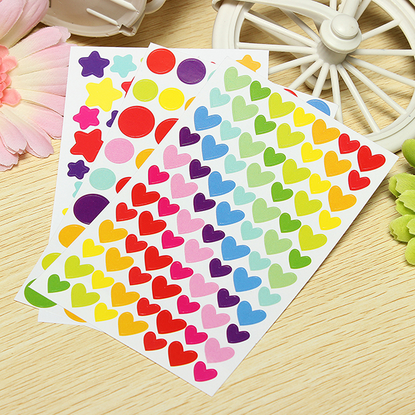6 Sheets Rainbow Sticker Diary Planner Journal Scrapbook  Decorative Ablums
