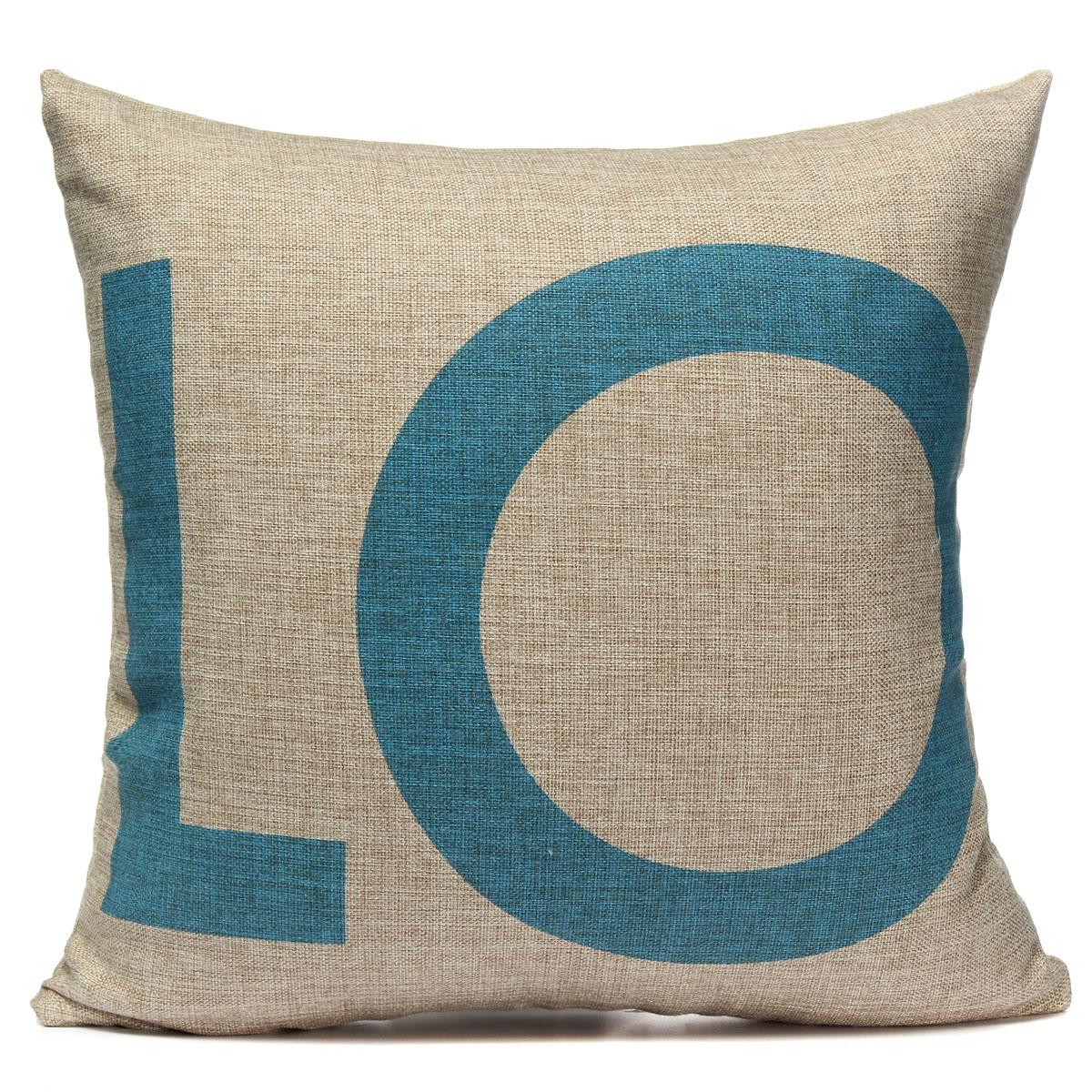 Throw Pillow Love : Cotton Linen LOVE Throw Pillow Case Car Cushion Cover Home Decor Valentine s Day