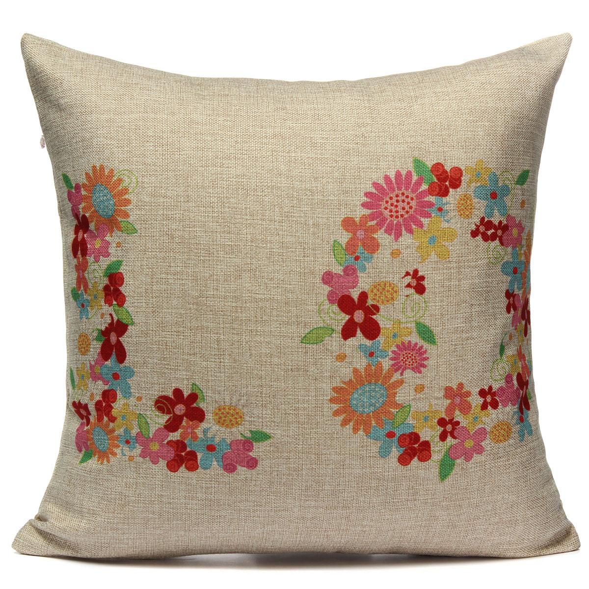 Cotton Linen LOVE Throw Pillow Case Car Cushion Cover Home Decor Valentine s Day