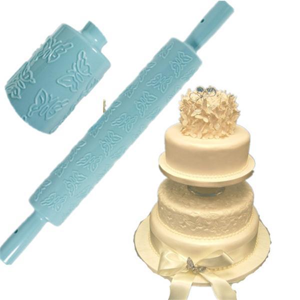 Cake Decorating Rolling Pin : Embossed Rolling PIN Fondant Cake Sugarcraft Decorating ...