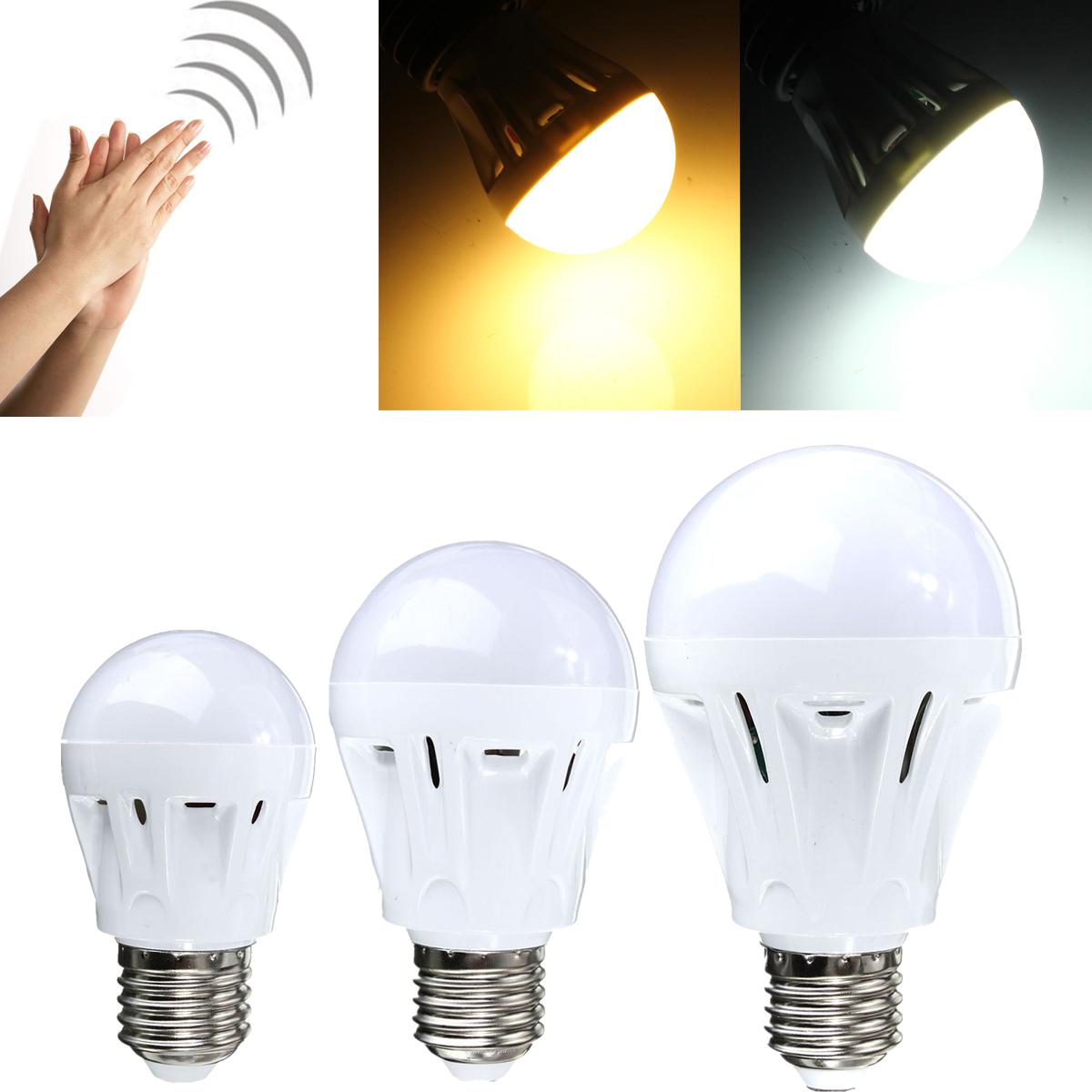 3W/5W/7W E27 LED Bewegungsmelder Sensor Sound Control Lampe Leuchte Licht Birne