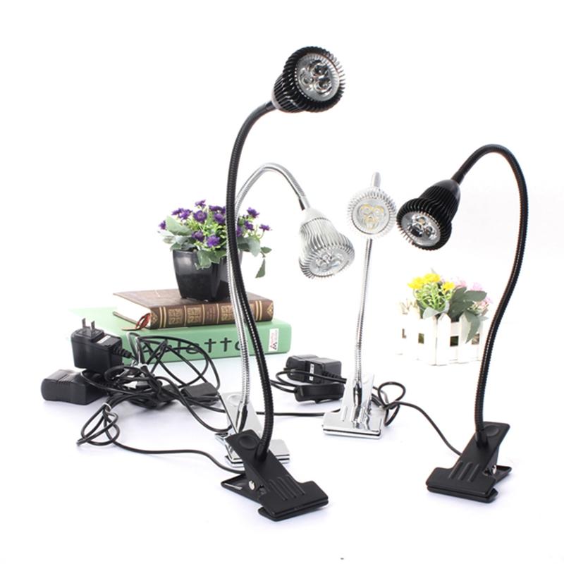 Flexible l mpara luz de mesa lectura cama 3w led clip on - Lampara lectura cama ...