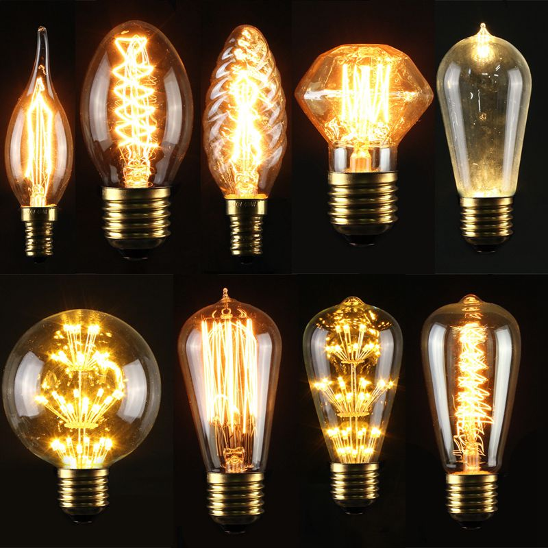 e27 e14s 3 5 40w edison gl hbirne vintage gl hlampe filament licht retro messing ebay. Black Bedroom Furniture Sets. Home Design Ideas