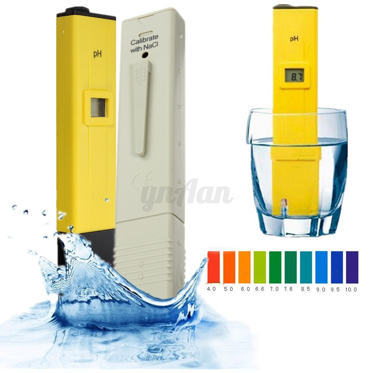 Lcd ph meter misuratore digitale tds misuratore acquario acqua tester penna ebay - Misuratore ph piscina ...