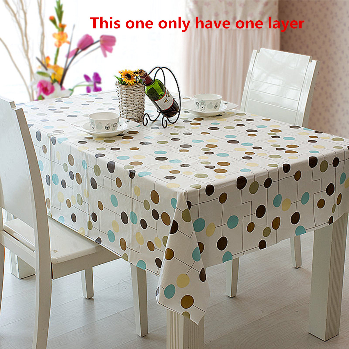 flannel pvc waterproof tablecloth dining kitchen table cover sizes