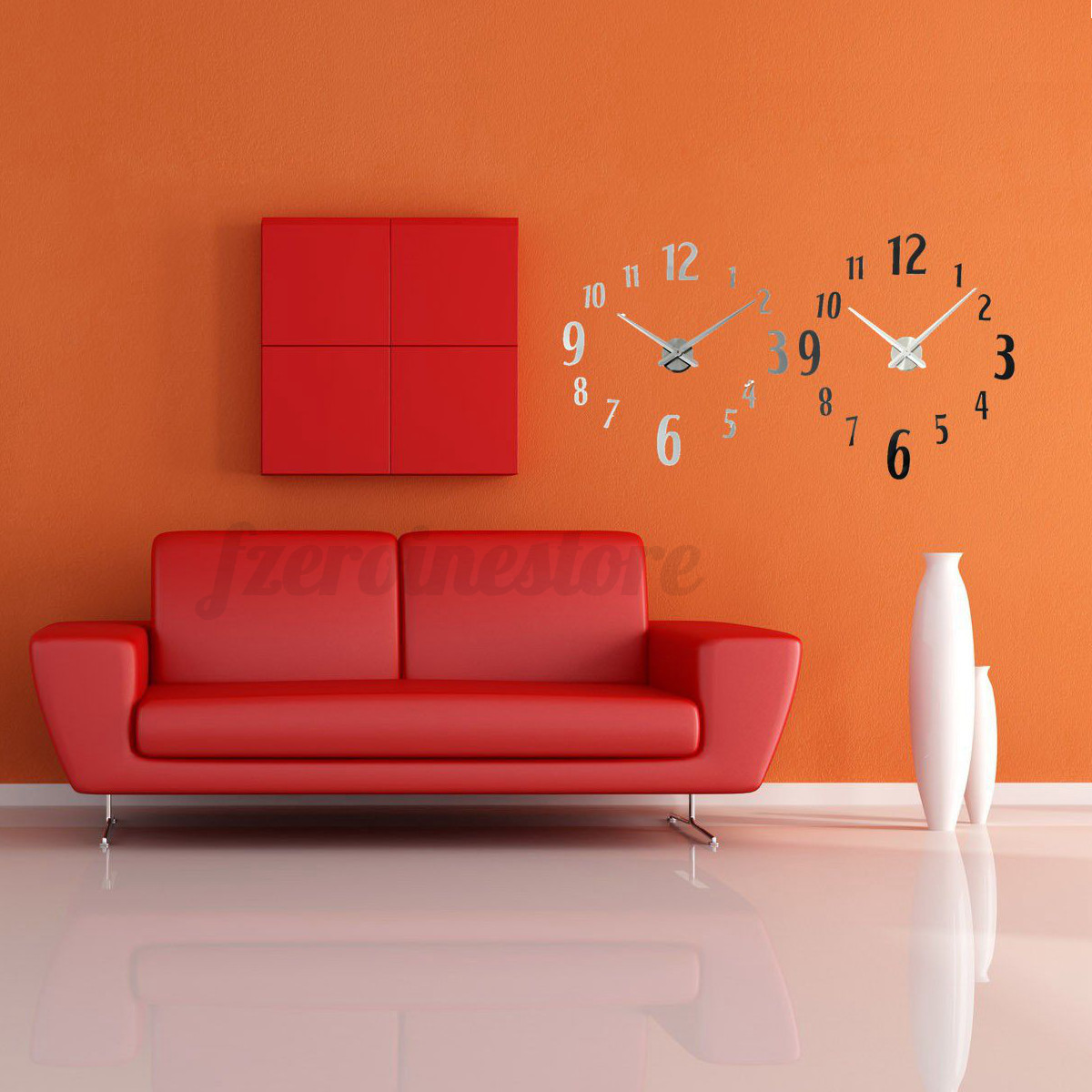 design uhr wanduhr wandtatoo spiegel wohnzimmer b ro wand dekoration geschenk ebay. Black Bedroom Furniture Sets. Home Design Ideas