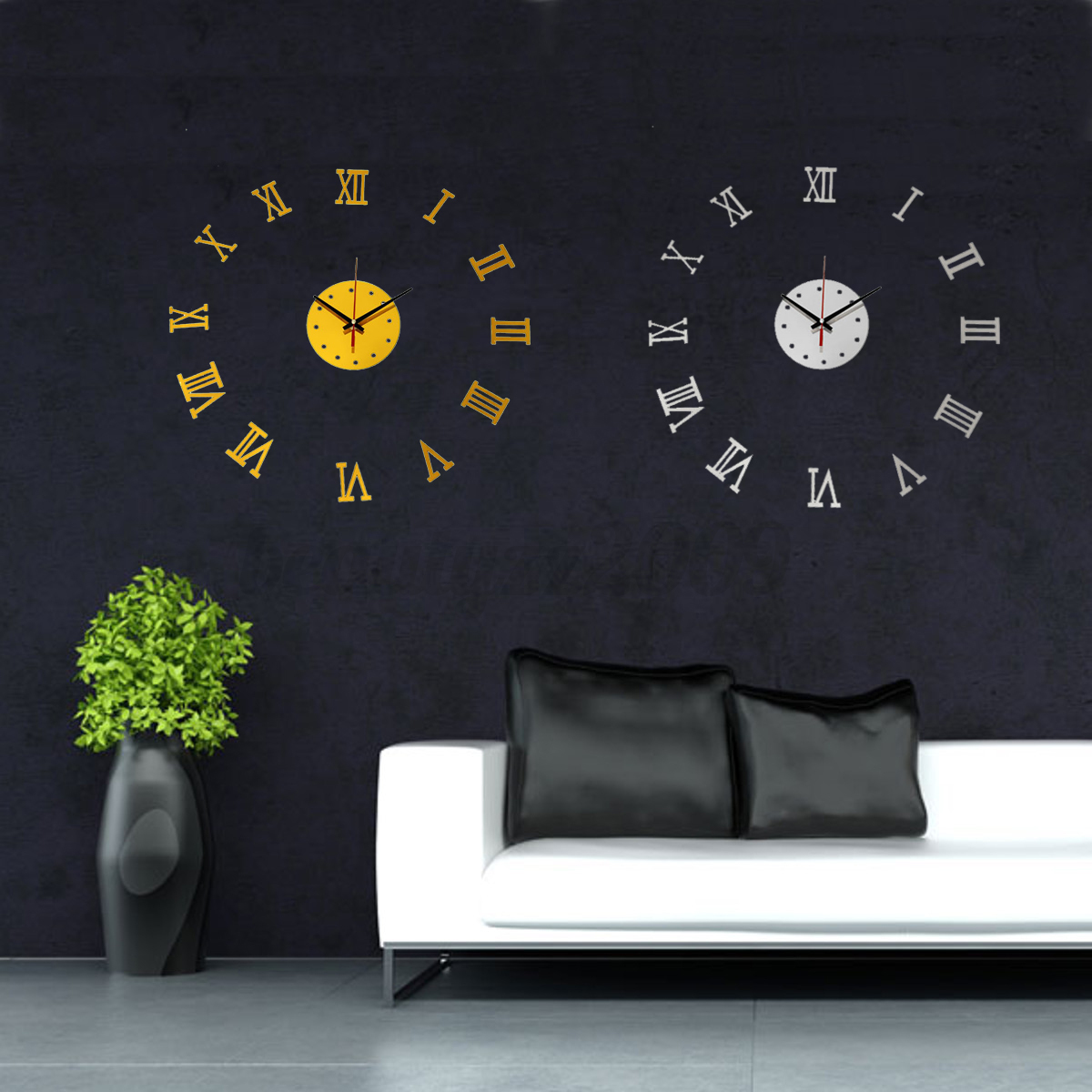 3d diy wall clock modern mirror acrylic home room for 3d christmas decoration