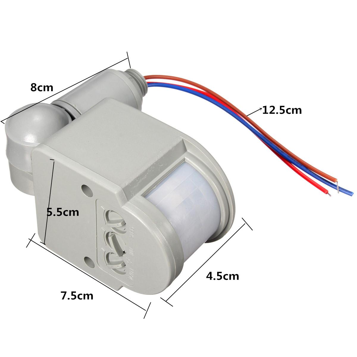 110v 240v led outdoor infrared pir motion sensor detector wall light switch 140 ebay for Exterior motion sensor light switch
