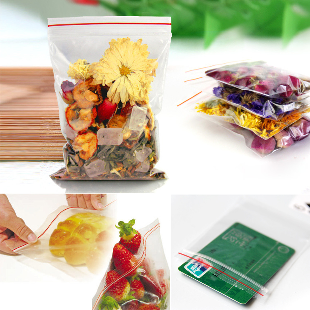 lot 100 sachet bag transparent plastique fermeture zip pochon pochette pression ebay. Black Bedroom Furniture Sets. Home Design Ideas