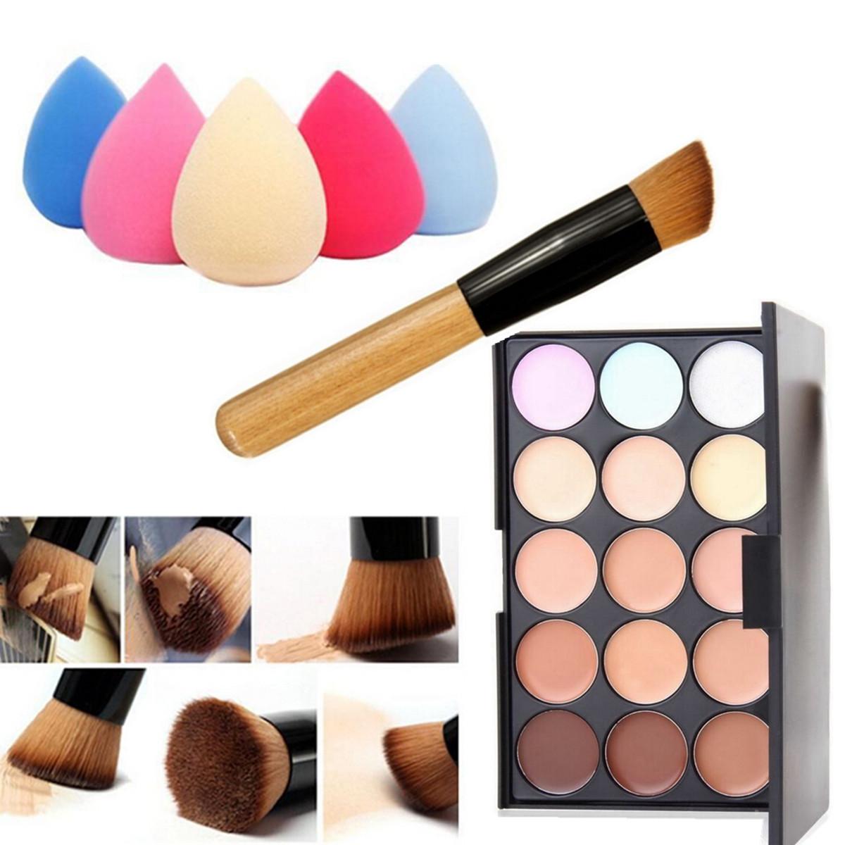 15 colori concealer correttori fondotinta palette spugna puff make up pennelli ebay - Er finestra mac ...