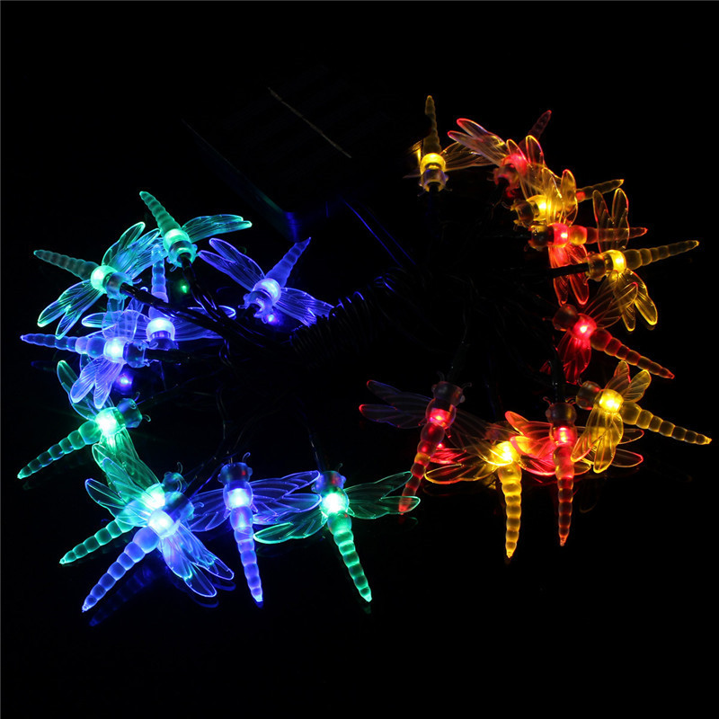 Philips Led String Lights Dragonfly : Set of 20 Solar String Fairy Butterfly Dragonfly LED Garden Xmas Lights Lanterns eBay