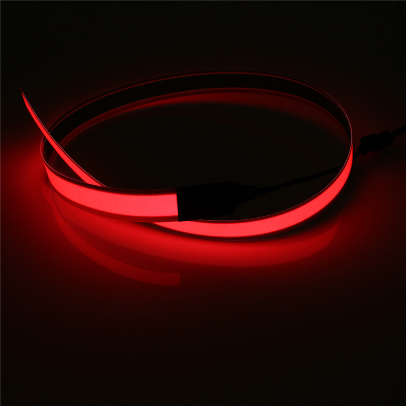 Flexible electroluminescent tape el wire glow light with