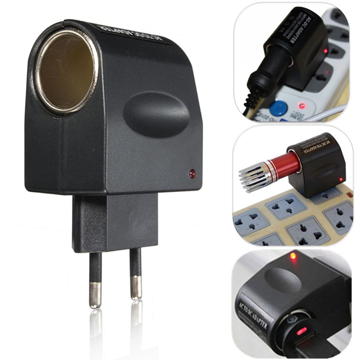 universel secteur ac 220v vers dc 12v voiture allume cigare chargeur adaptateur. Black Bedroom Furniture Sets. Home Design Ideas