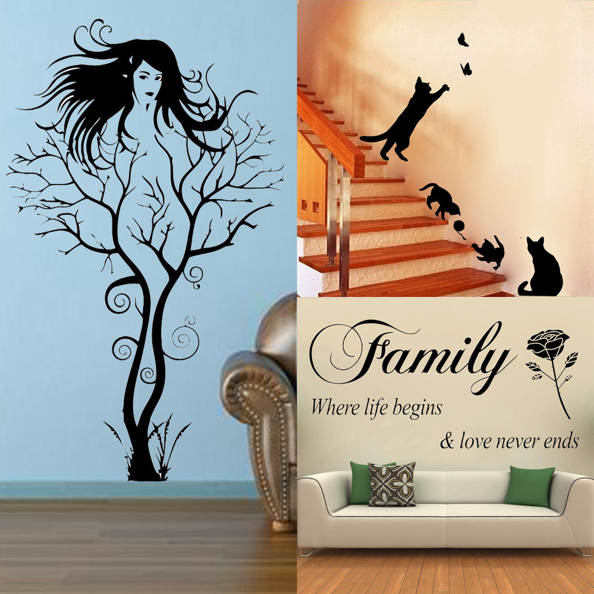 diy removable decal home office bedroom decor wall sticker wall stickers b amp q wall stickers decorationg ideas