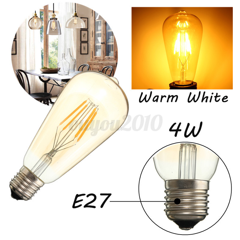e27 4w 6w edison vintage led cob filament retro gl hbirne. Black Bedroom Furniture Sets. Home Design Ideas