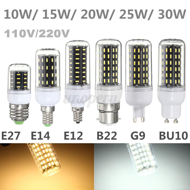 ... G9 GU10 LED 10/15/20/25/30W 4014 SMD LUCE LAMPADINA 110/220V eBay