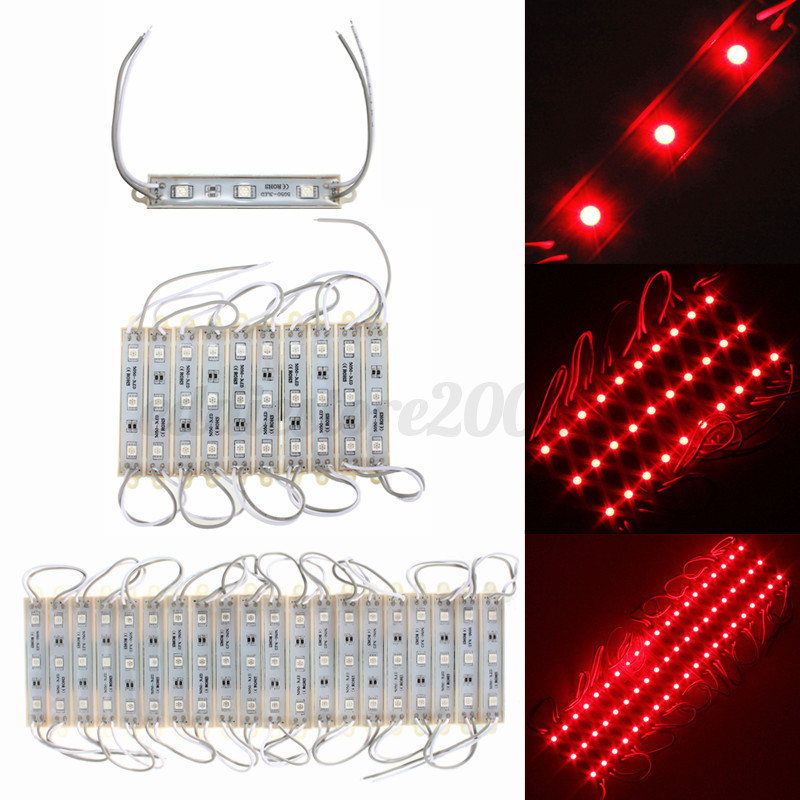 Led String Lights Dc : 5050 SMD 3 LED Module LED Strip String Light Multi-Colors Waterproof DC 12V eBay