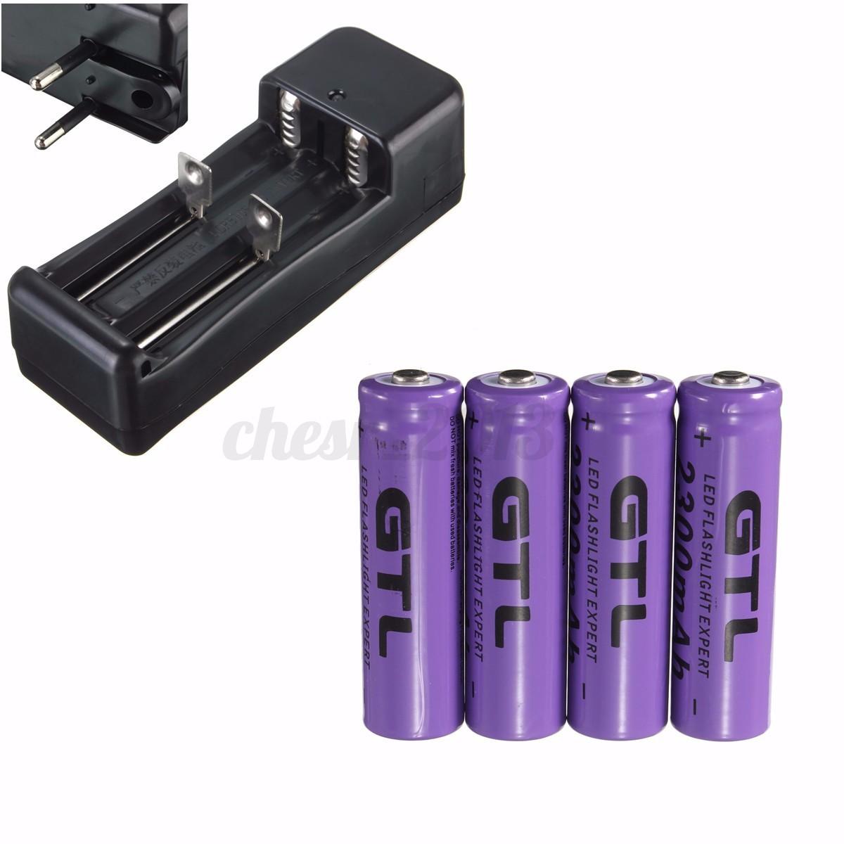 3.7V 2300mAh 14500 AA Li-ion Rechargeable Battery batteria RICARICABILE CARICA  eBay