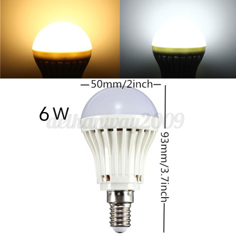 E14 3W/4W/5W/6W 2835 SMD Energy Saving LED Globe Spot Light Bulb Lamp 110/220V