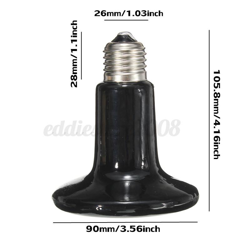 25 250w Infrared Ceramic Emitter Heat Lamp For Reptile Pet