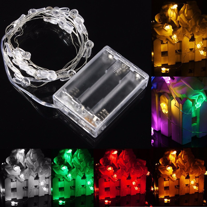 10 18 20 30 led rgb lichterkette weihnachten beleuchtung party stern batterie bo ebay. Black Bedroom Furniture Sets. Home Design Ideas