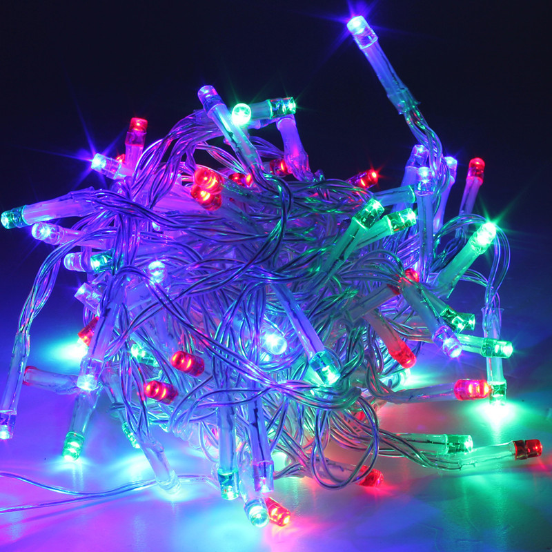 Electric Solar Battery 10 500led String Fairy Light Lamp