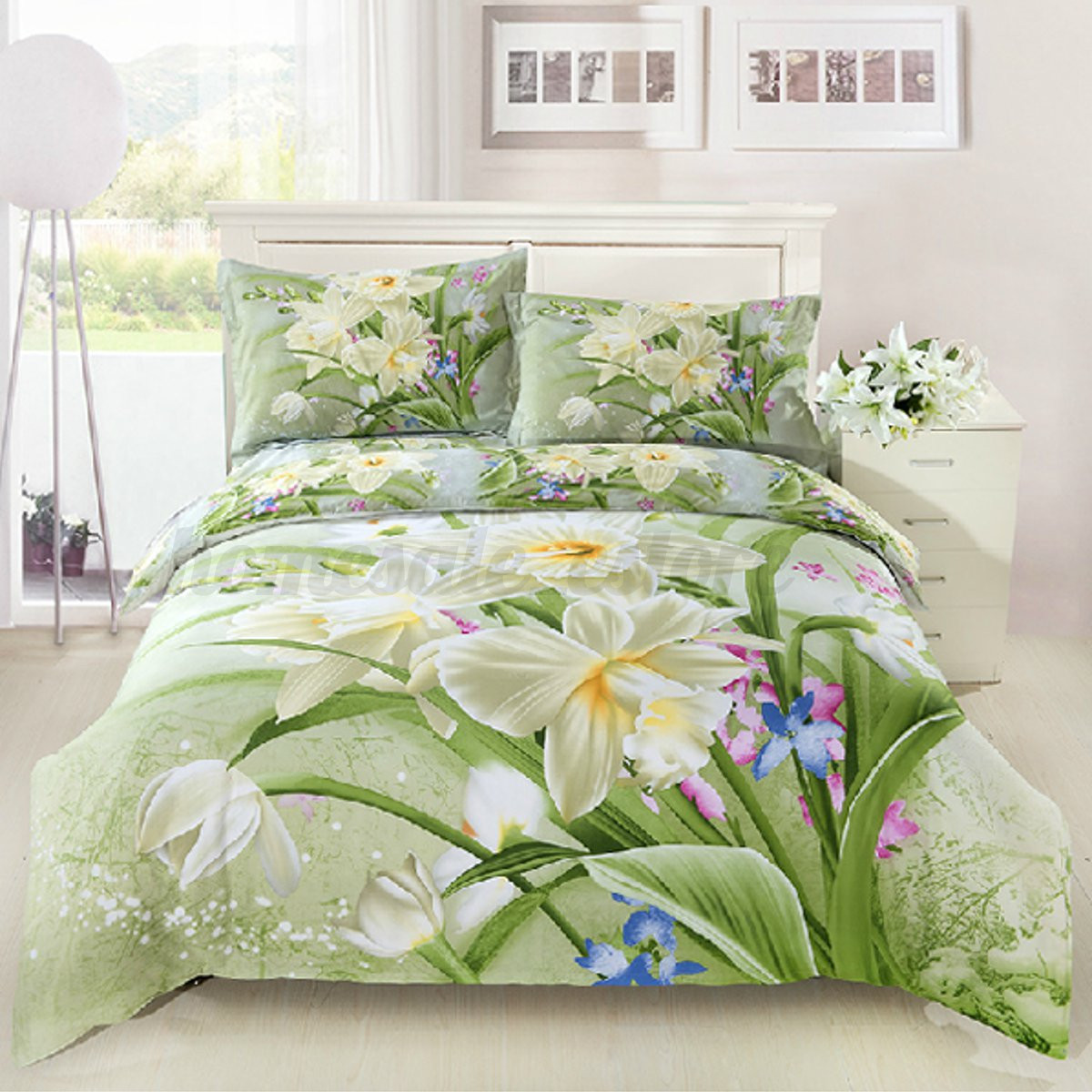 new 3d bedding sets king queen size duvet cover bed sheet pillowcase bedclothes ebay. Black Bedroom Furniture Sets. Home Design Ideas