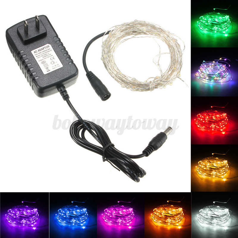 10m 100 led draht lichterkette wasserdicht weihnachten fernbedienung au en innen ebay. Black Bedroom Furniture Sets. Home Design Ideas