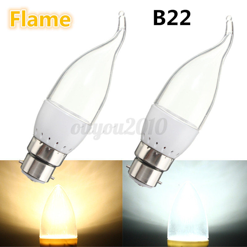 3w e27 e14 b22 base 9 led 3012 smd candle bulb bougie flamme ampoule lampe 220v ebay. Black Bedroom Furniture Sets. Home Design Ideas
