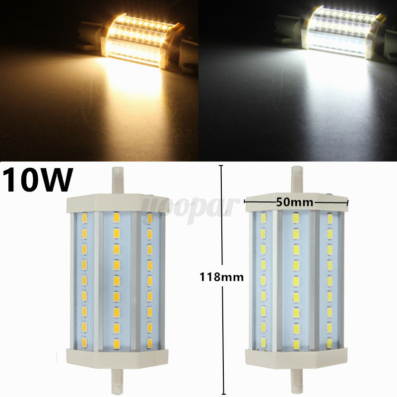 Lampadina 5730 5630 r7s led 78mm 118mm 10w 15w 25w alogena for Alogena r7s led