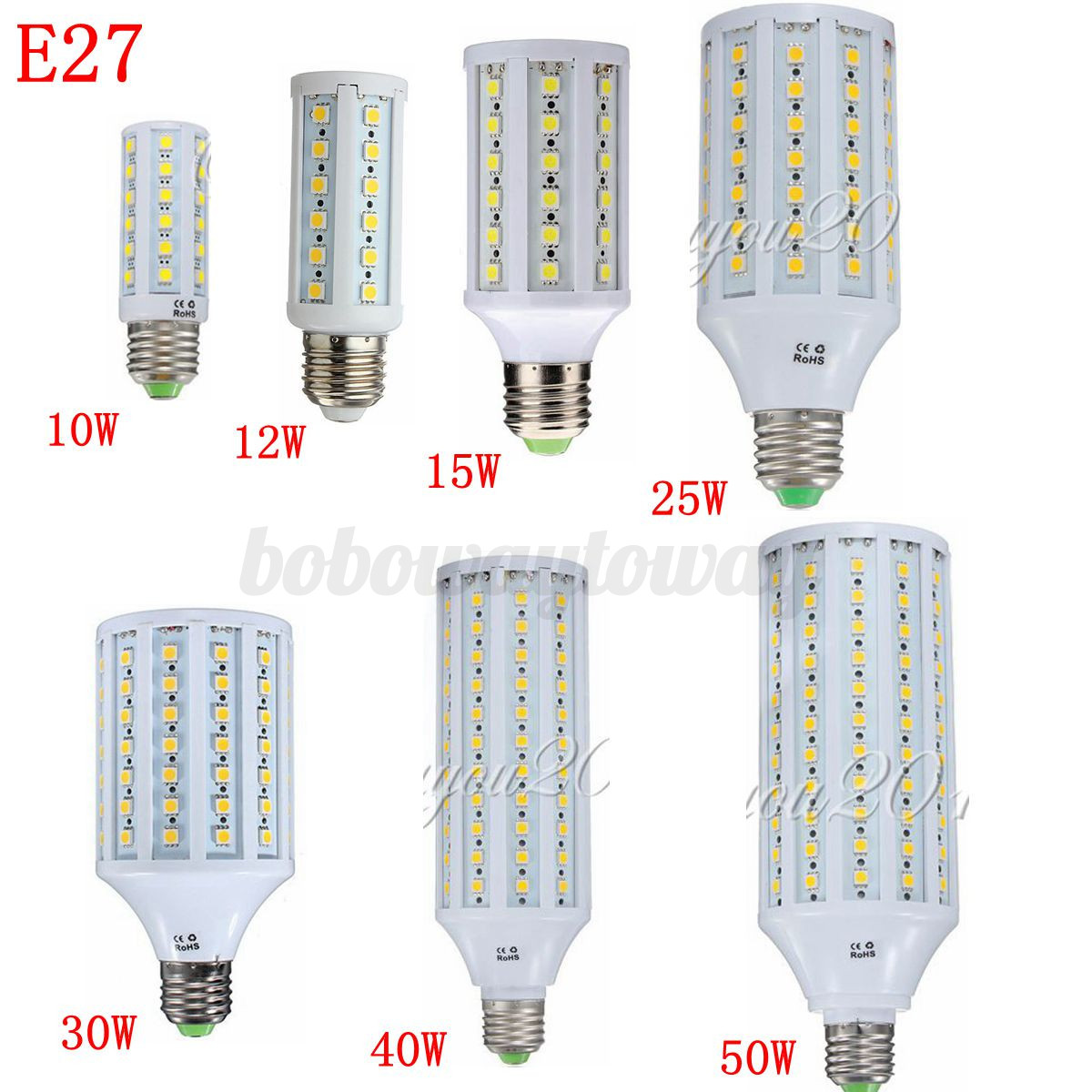 4/10X E27/E14/B22 5050 SMD 10W/15W/25W/30W/50W LED Corn Light Bulb Lamp Bulb