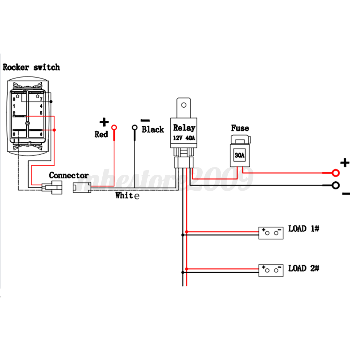 Ford Ranger Wiring Diagramelectrical together with Wiring Harness 12v 40a Wiring Harness Kit Fuse Relay For Two Led Work Driving Light Bar Up To 300w in addition 291674038166 moreover 311519809414 likewise Product product id 488. on make a wiring harness for led light bar