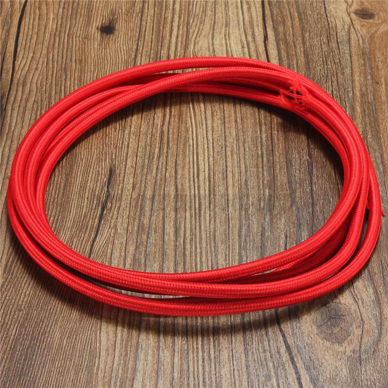 1 3 5 10m fil lectrique tress gaine tissu c ble - Cable electrique tissu ...