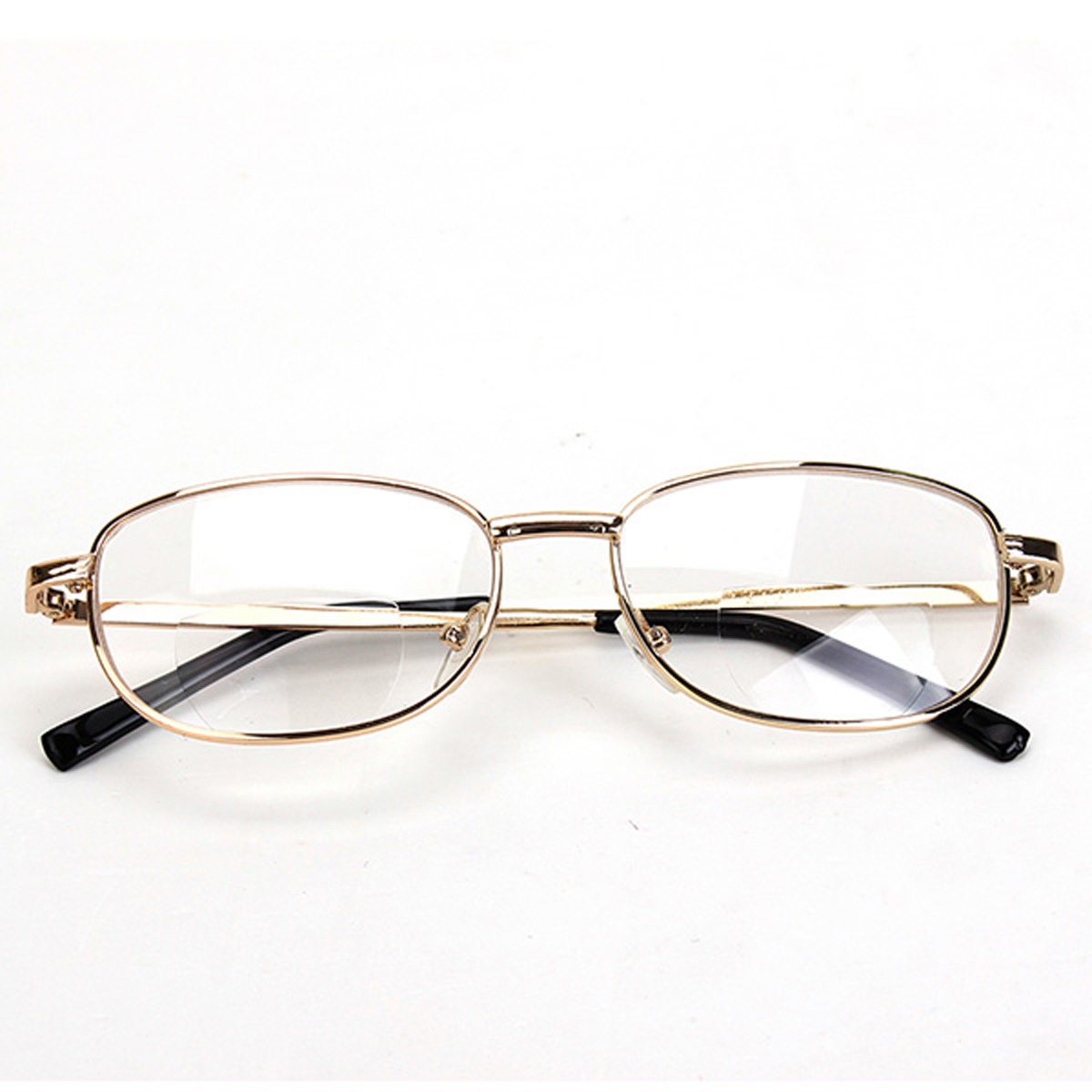 fashion bifocal lens rimmed s reading glasses gold