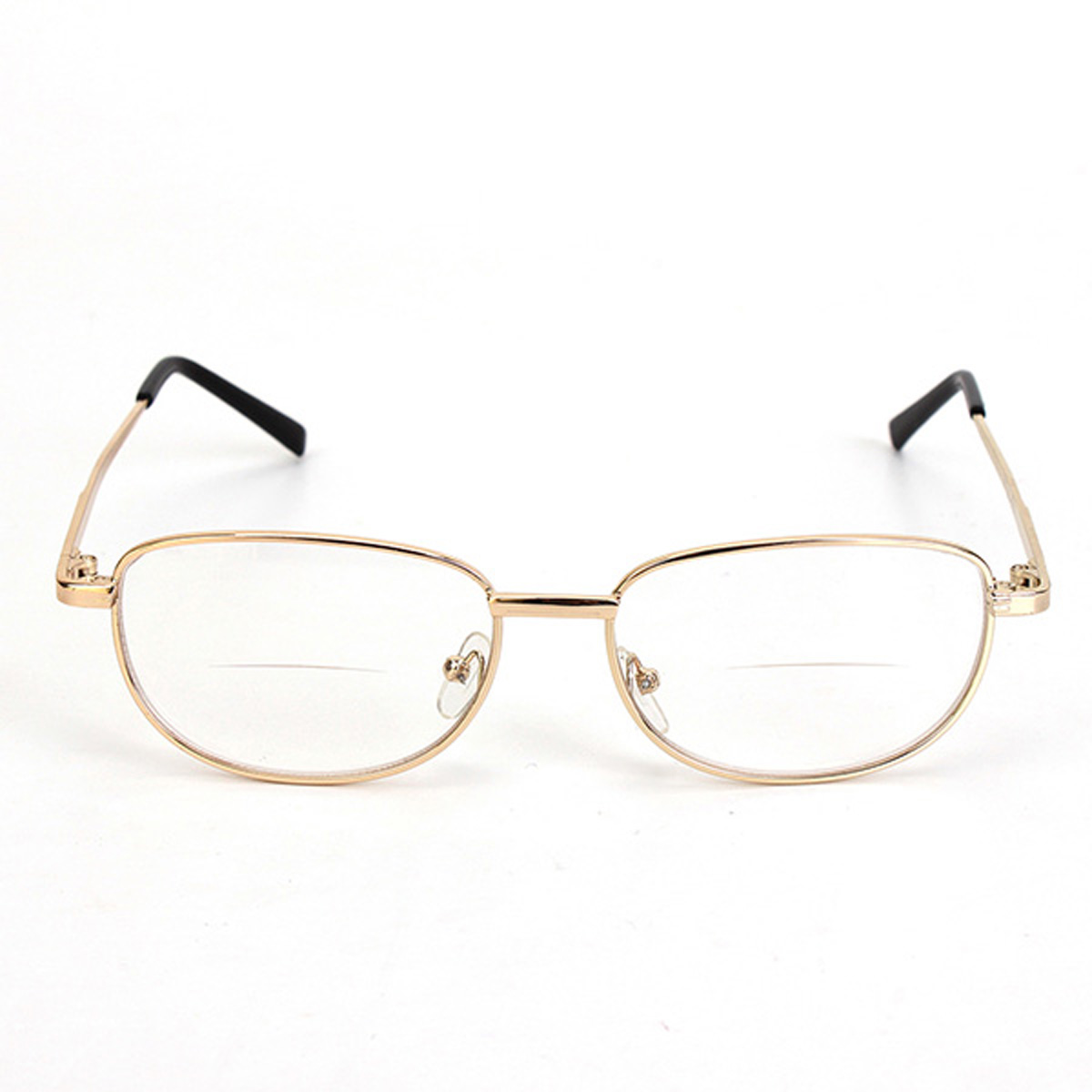 Gold Metal Glasses Frames : Fashion Bifocal Lens Rimmed Mens Reading Glasses Gold ...