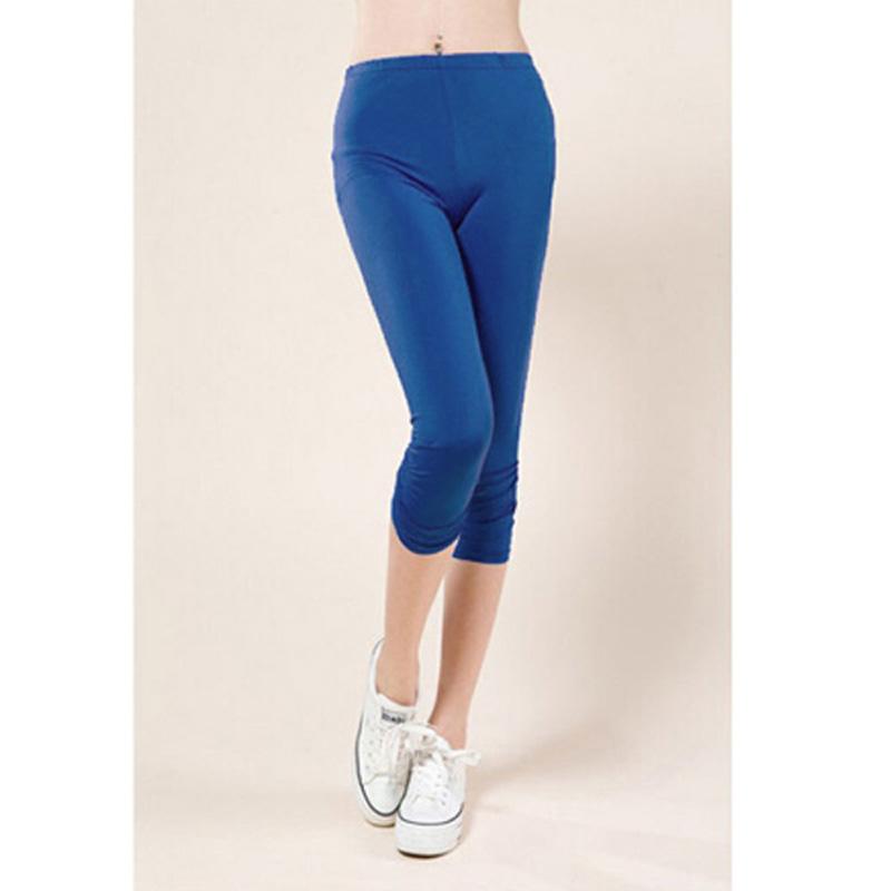 ZANZEA Plus Size Sexy Womens Stretchy Cropped Leggings